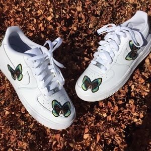 newest 555f7 e992a Nike Shoes - Custom Butterfly Embroidered Nike Air Force 1 Low